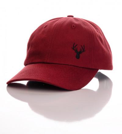 bordowa czapka z daszkiem