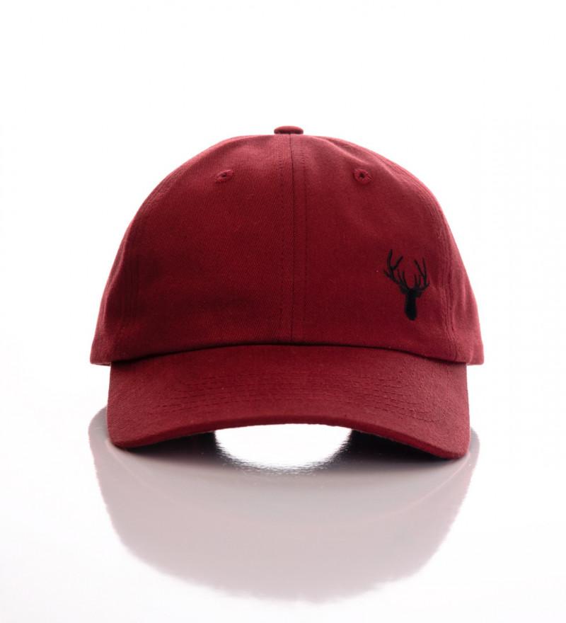 burgundy baseball cap
