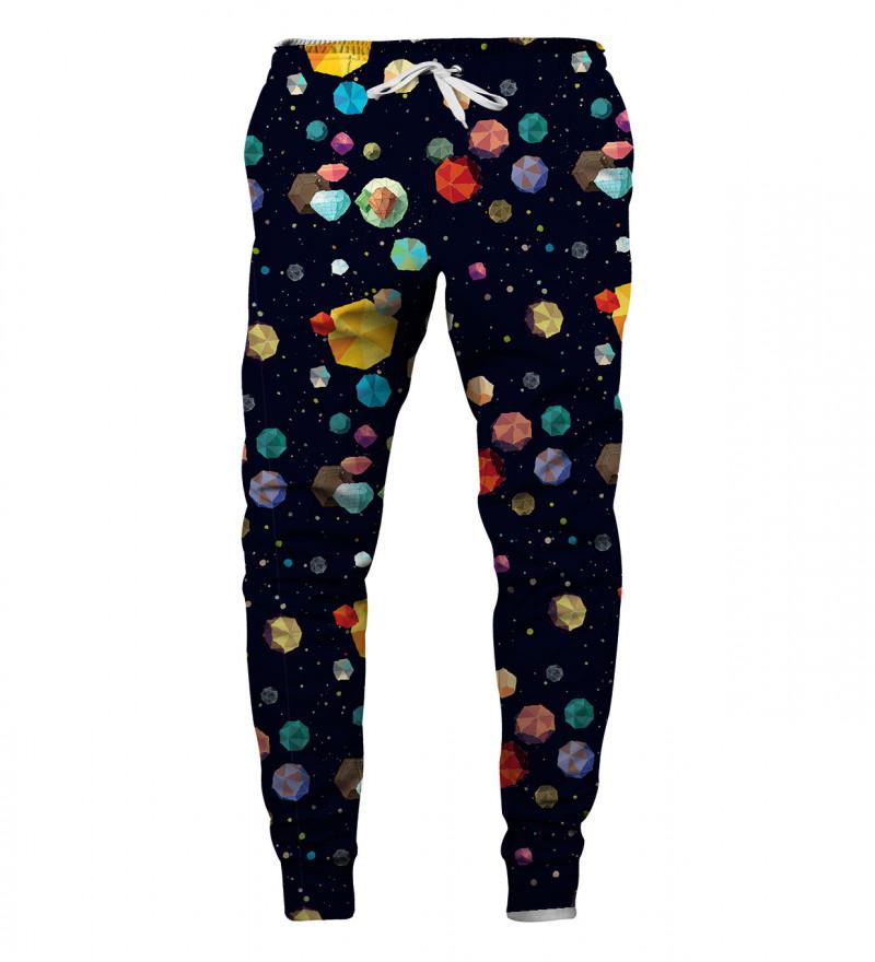 sweatpants with diamond galaxy motive