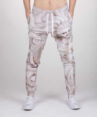 sweatpants with art motive