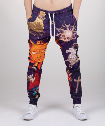 sweatpants with astrological motie