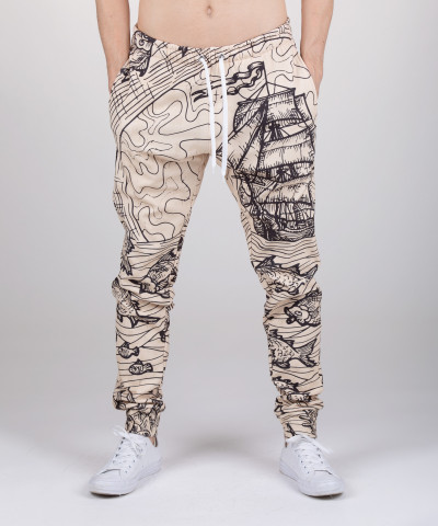 sweatpants with sailing motive
