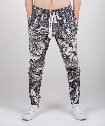 spodnie z motywem artystycznym