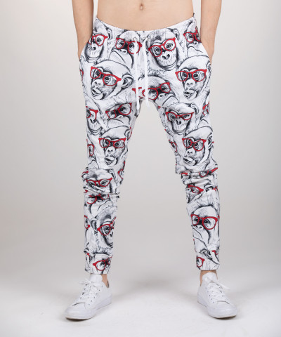 sweatpants with monkeys motive