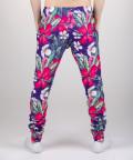 sweatpants with flowers motive