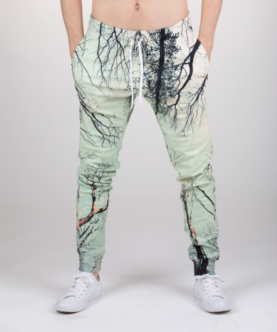 sweatpants with branches motive