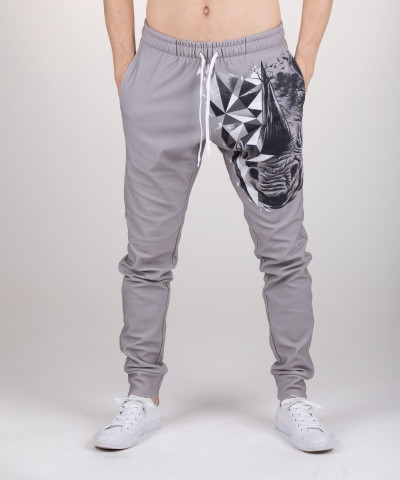 sweatpants with rhino motive