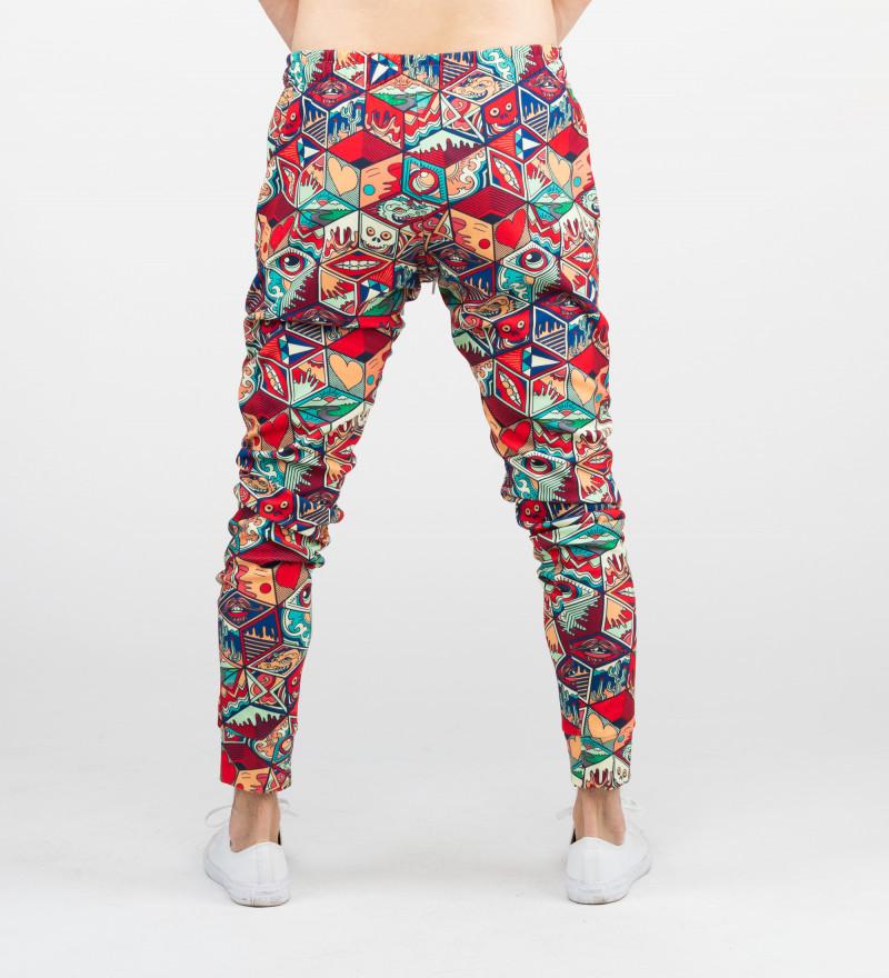 spodnie z motywem puszki pandory