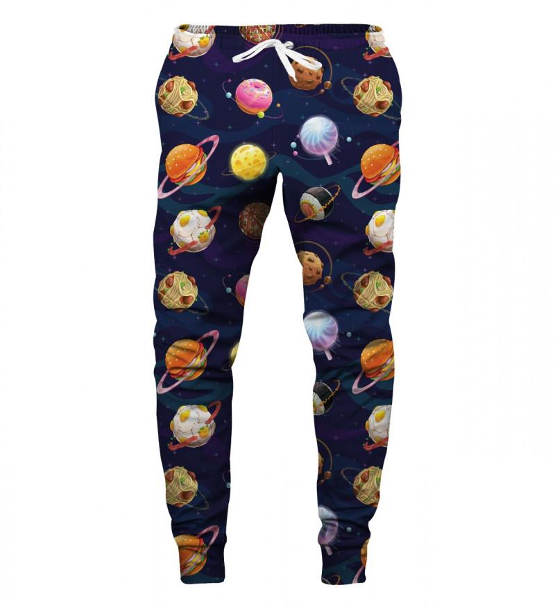 spodnie z motywem kosmosu