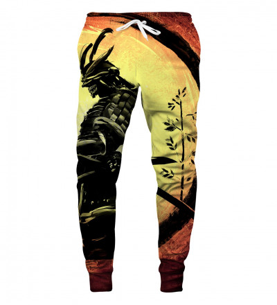 sweatpants with samurai motive