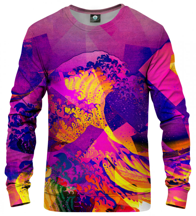 sweatshirt with great wave motive