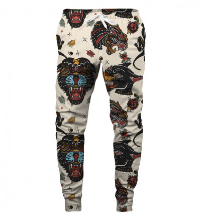 sweatpants with panther motive