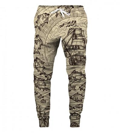 spodnie z motywem żeglarstwa
