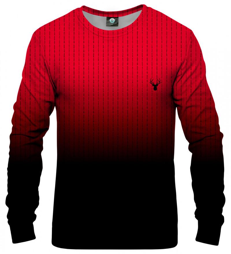 bluza czerwone ombre z napisami fk you