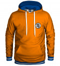 orange hoodie with anime motive