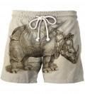 Szorty kąpielowe Durer Series - Rhinoceros