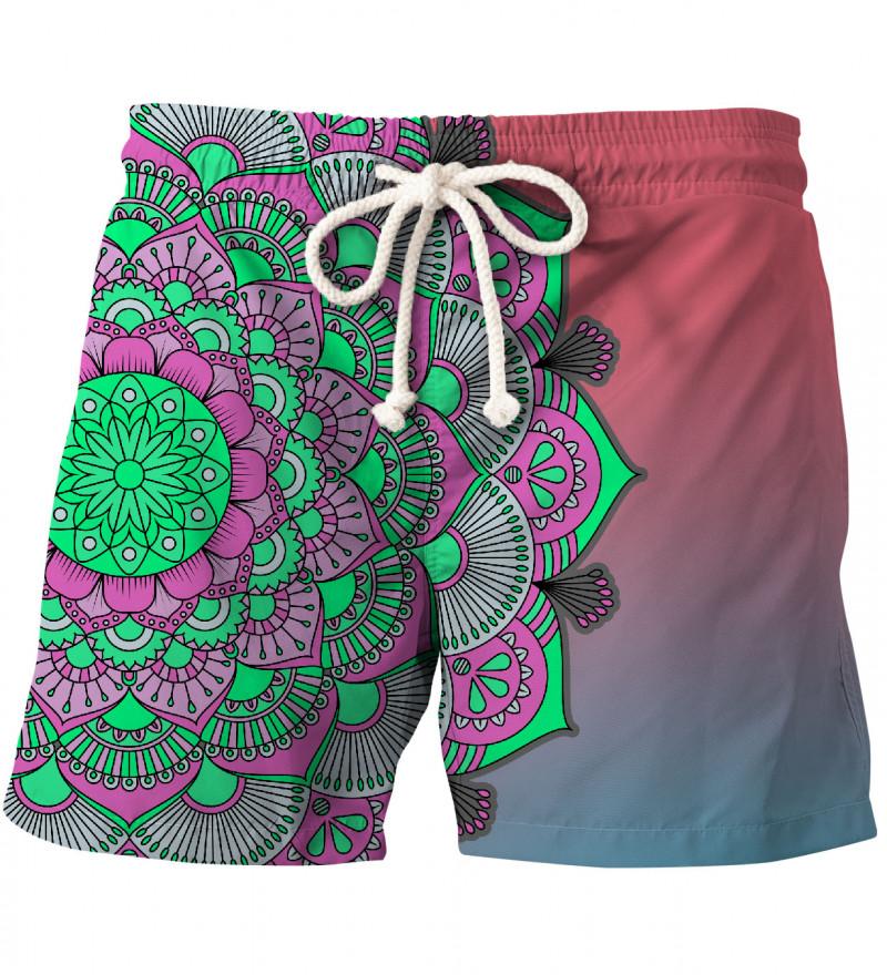 shorts with mandala motive