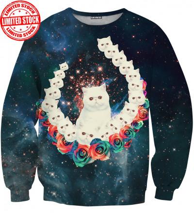 sweatshirt with cat motive