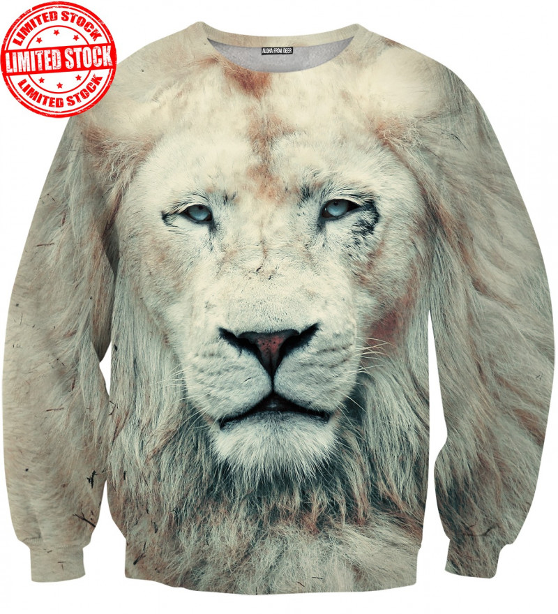 sweater with lion motive