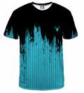 T-shirt Fk you blue splash