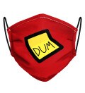 Red Dum Dum Face Mask