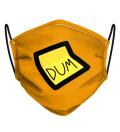 Orange Dum Dum Face Mask