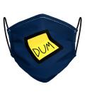 Blue Dum Dum Face Mask