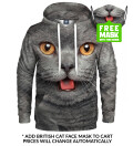 Bluza z kapturem British cat