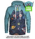 Bluza z kapturem Space Cat