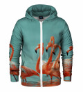 Flamingos Zip Up Hoodie