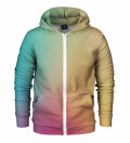 Colorful ombre Zip Up Hoodie