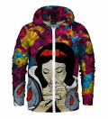 Snow White Zip Up Hoodie