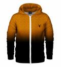 Orange ANTI SOCIAL Zip Up Hoodie