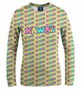 Kawaii Yellow women sweatshirt