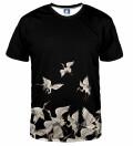 T-shirt Black Cranes