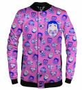 Kabuki Mask Pink baseball jacket