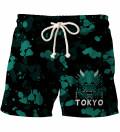 Tokyo Oni Teal shorts