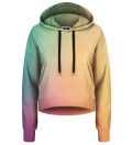 Crop Hoodie Colorful ombre