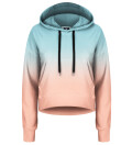 Ombre Cropped Hoodie