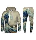 Great Wave Hoodie & Sweatpants Set