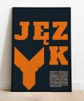 Plakat literacki Podzwonne dla Instytutu, Justyna Grubka dla animi.pl