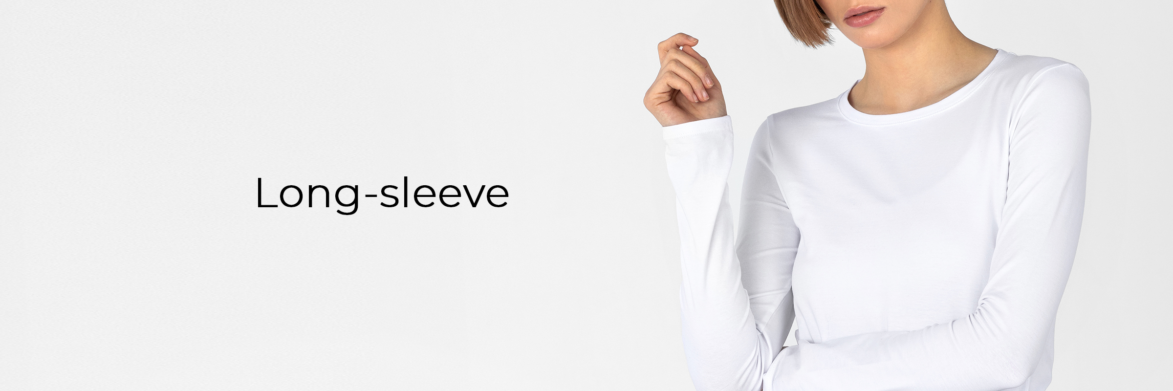 long-sleeve women's collection banner