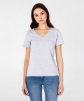 V-neck t-shirt, grey