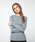 Sweter klasyczny, szary