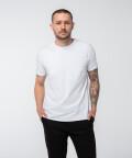 T-shirt z okrągłym dekoltem o wysokiej gramaturze, biały