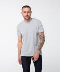 T-shirt z okrągłym dekoltem o wysokiej gramaturze, szary
