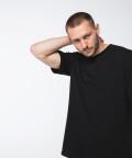 T-shirt oversize, czarny