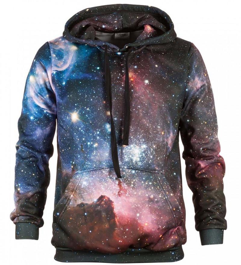 Bluse med hætte - Purple Galaxy