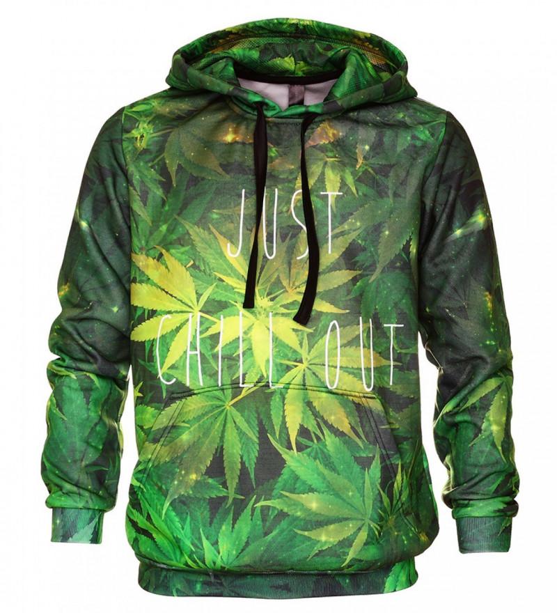 Bluse med hætte - Weed