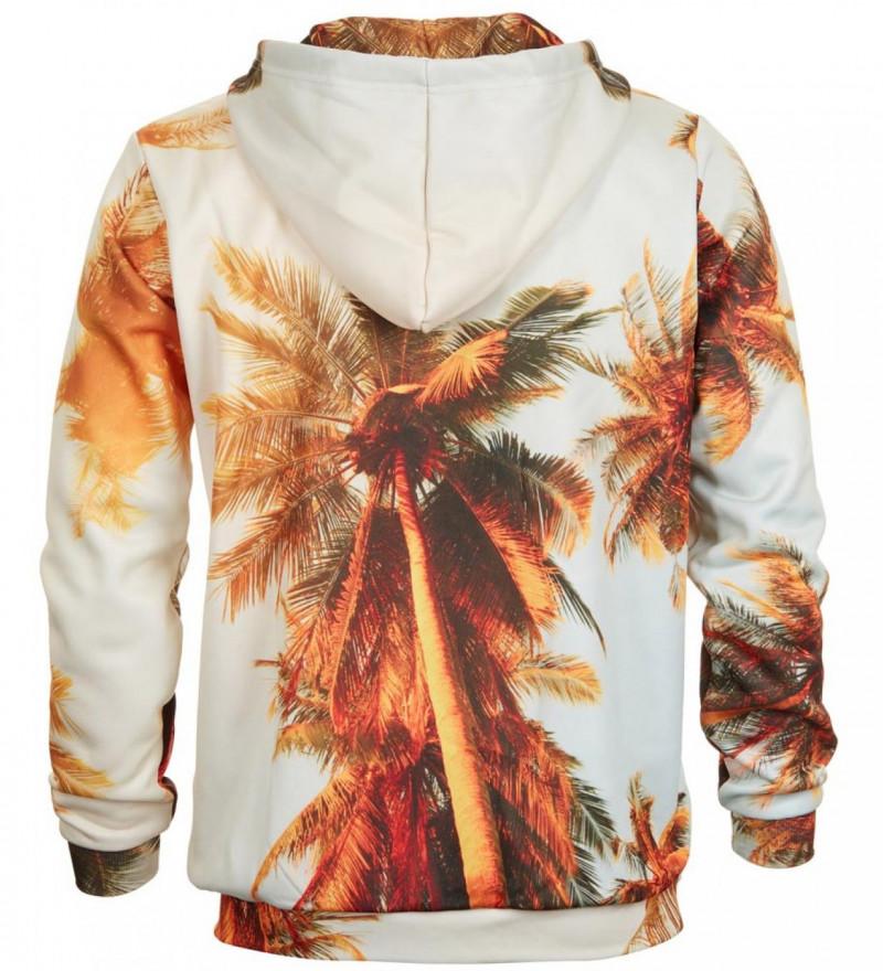 Bluse med hætte - Tropical